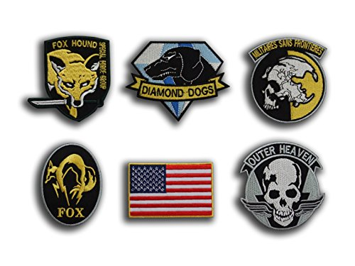 Diamond Dogs metal gear Solid cosplay Tactical la moral Badge Patch (2 – en chapas) de hierro por ONEKOOL