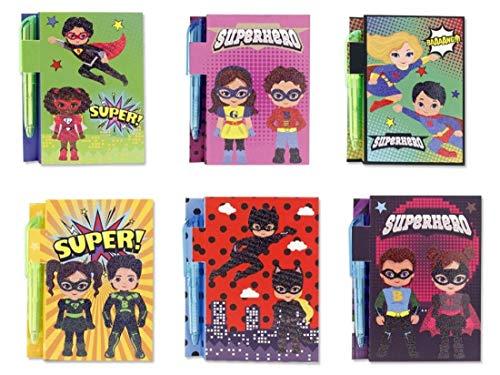 Libreta super heroes 100 Hojas 70 Gramos Con Boligrafo 11,5x7,5cm Surtido - 1 unidad aleatoria