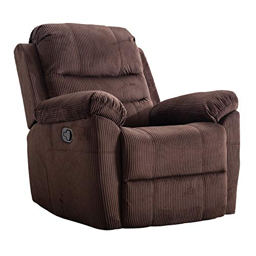 zsjhtc Electric Power Recliner Chair,Thickening Soft Velvet for Bedroom Living Room Sofa with Backrest Home Theater Seating Brown