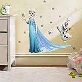 Cartoon DIY La Reine des neiges Princesse Elsa Anna Sticker mural Fille Jardin d'enfants Chambre Décoration de fond Mobile Poster Autocollant