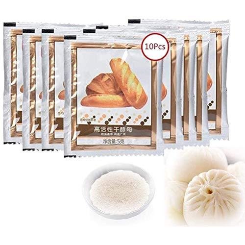 zuoshini Instant Trockenhefe Brot Hefe Teig Hefe 10 Stück Aktive Trockenhefe Küche High Glucose Hefe Backhefe für Brotkuchen