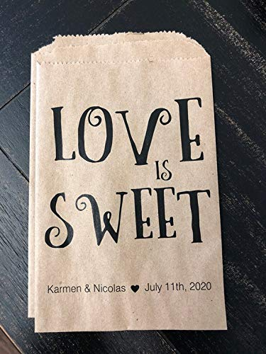 Wedding Favor Bag  A Sweet Thank You  Treat Bag