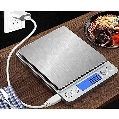 CHWARES Báscula de cocina digital con carga USB,...
