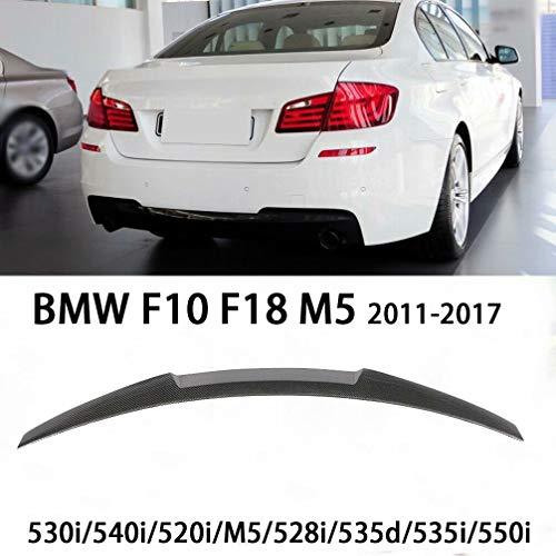 QCWY Auto Kofferraum Spoiler, Geeignet für BMW F10 F18 M5 530i/540i/520i/M5/528i/535d/535i/550i Heckspoiler Dachlippe 2011-2017 Style Querruder Heck Dachlippe Flügel