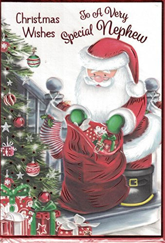 Prelude Nephew Christmas Card ~ Happy Christmas To A Special Nephew With Love ~ Santas Christmas Letter