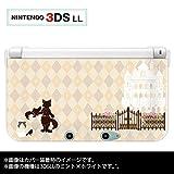 Nintendo 3DS LL 専用 カバー ケース ( ハード ) ニンテンドー 長靴を履いた猫 ベージュ アーガイル チェック