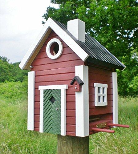 Wildlife Garden MULTIHOLK Vogelhaus SCHWEDENKATE 2 in 1 rot Nistkasten und Futterhaus SCHWEDEN Stil
