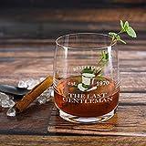 Herz & Heim® Whiskeyglas (Bohemia) mit kostenloser Gravur - Last Gentleman - tolle Geschenkidee für Ihren Lieblingsmenschen - 5