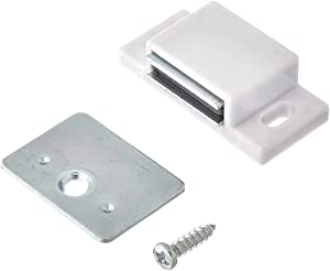 MPJ Shutter Hardware 50631-R 15lb Single Magnetic Catch White/zinc Retail Pack (2)