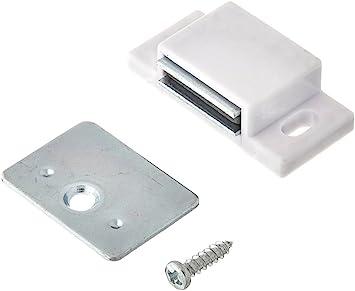 Box of 20-15lb Single Magnetic Catch White//zinc Retail Pack Shutter Hardware