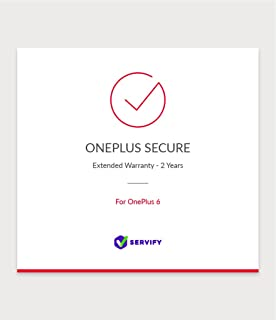 Servify OnePlus Secure 2 Year Extended Warranty Plan for OnePlus 6 256GB