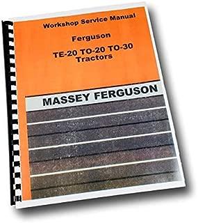 Harry Massey Ferguson To-30 To-20 Te-20 Tractor Service Repair Shop Manual 20 30