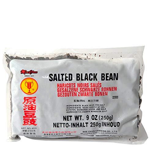 Mee Chun Fermentierte Schwarze Bohnen 250g, Natural salted Black Beans