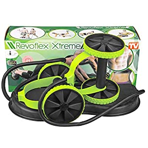 KAZOLEN Ab Roller Multifunctional Home Workout Equipment for Home Workouts Perfect Home Gym Equipment for Women Men Abdominal Exercise, Fitness Trainer Ab Wheel Roller for Core Workout (Green V1)