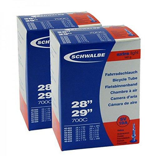 2x Schwalbe Schlauch 27.5-29 Zoll SV19A X-Light 28x1.5-2.35 40-62/584-622 NR.19 SV