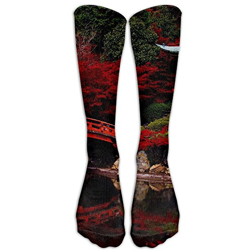 YISHOW Autumn In The Japanese Garden Unisex Knee High Long Socks Athletic Sports Tube Stockings For Running,Football,Soccer