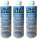 Jetted Tub Cleaner Easy, Safe, Concentrated Self Cleaning Bath Tub Jet and Plumbing System Cleaner for Your Hot Tub, Whirlpool, Spa, or Jacuzzi - (Premium Formula - 8 cleanings per bottle) (3 bottles)