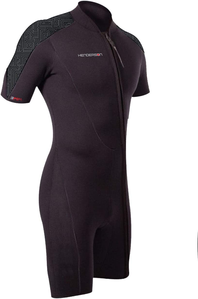 Henderson Men's 3mm Free shipping anywhere in the nation Thermoprene Pro Wetsuit Zip Shorty Front Sales for sale