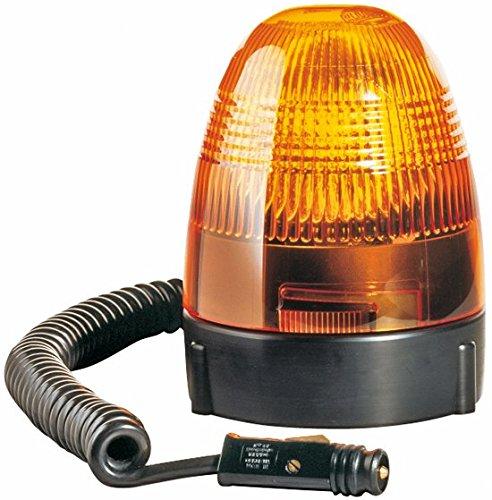 HELLA 2RL 007 337-021 Rundumkennleuchte - KL Rotafix - Halogen - H1 - 12V - Lichtscheibenfarbe: gelb - Magnetbefestigung - 2-polig