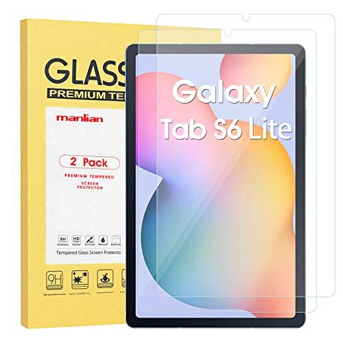 Manlian Panzerglas Schutzfolie für Samsung Galaxy Tab S6 Lite 10.4 Zoll (SM-P610 / P615), [2 Stück] Gehärtetes Glas Displayschutzfolie.