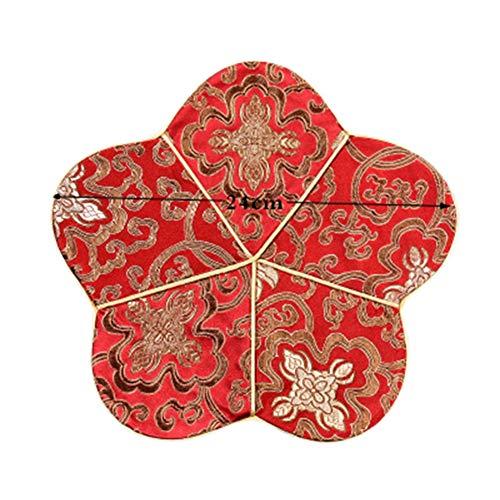 Goddness Bar Tapis de Plateau de thé en Tissu décoratif Coaster Retro Pad Tapis (Style 02)
