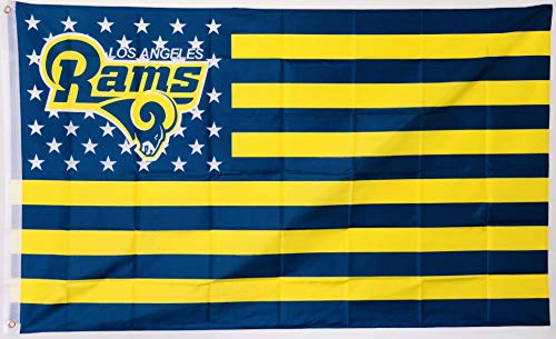 LA Rams Nation Los Angeles Rams Flag, 3 x 5 Feet for Indoor or Outdoor Use