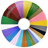 22 paquetes de filamento para bolígrafo 3D PLA, MISDUWA 20 colores + 2 colores aleatorios, un total de 22 metros, cada filamento de 10M 3D de 1,75 mm para bolígrafos 3D y lápices de impresión 3D.