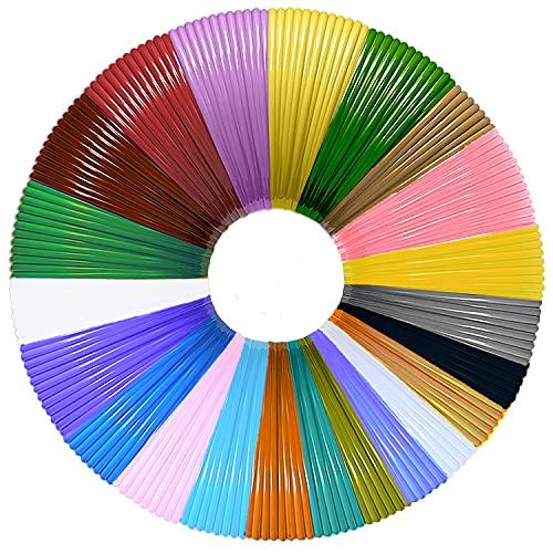22 Packungen 3D Pen Filament PLA, MISDUWA 20 Farben + 2 zufällige Farben, insgesamt 721 Fuß, jedes 10M-3D-Stift-PLA-Filament 1,75 mm, 3D-Stifte für 3D-Stifte und 3D-Druckstifte