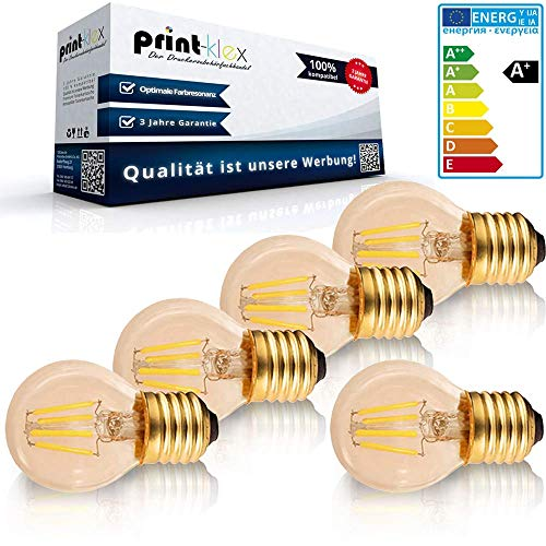5x LED Leuchtmittel Filament Vintage in Birnenform klein G45 E14 4W 2200K Warmweiß Retro Lampe Glühbirne Antik