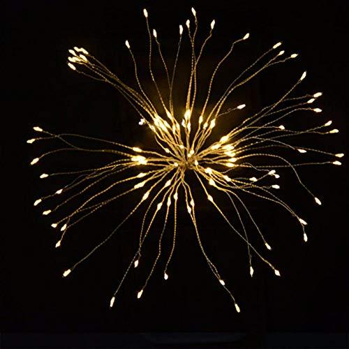 Garland Lights Feuerwerk im Freien Weihnachtslichter Power 100-180 LED String Kupferdraht Lichterketten Xmas Party Decor Lampe Twinkle-warm_white_France_150LEDs