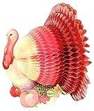 Tissue Paper Honeycomb Centerpiece, Thanksgiving Turkey