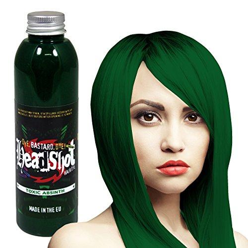 Grüne Haarfarbe Headshot Toxic Absinth, Semi-permanente Haartönung 150 ml