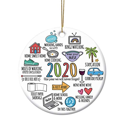 ACTLATI 2020 A Year We will Never Forget, Remember 2020 Christmas Ornament Quarantine Ornament 2020 Events Keepsake