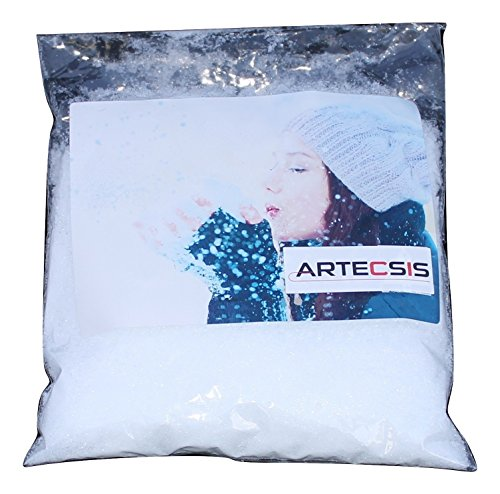 ARTECSIS Sacchetto di Neve Artificiale da 1 Litro, Neve Artificiale per Interni, Esterni, per Decorazioni Natalizie
