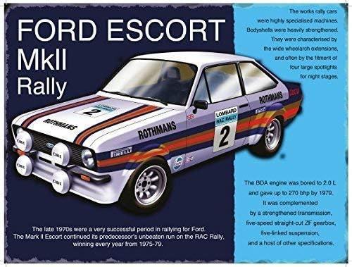 Magnet Ford Escort Mkii MK2 Auto Rally Icona Anni 80 Classic-Parent 9 x 6.5 cm