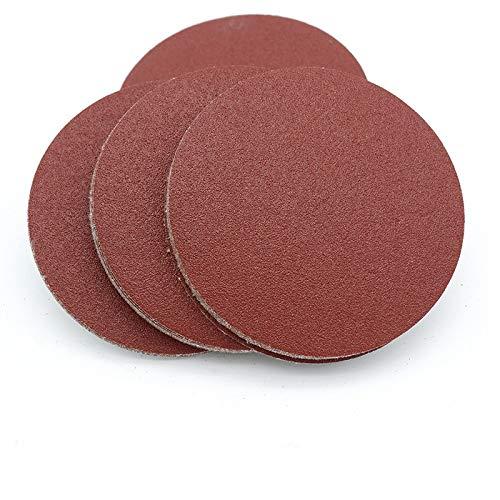 XVCHQIN 20 piezas 4 pulgadas 100 mm Disco de papel de lija redondo Hojas de arena Grano 40-2000 Disco de lijado de gancho y bucle, Grano 40