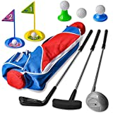 Zac-T Toddler Golf Clubs Set/Deluxe Happy Kids Golf Ball Gameplay Sports Toys for Kids Boys Girls Indoor Outdoor Play, Christmas Birthday Gift