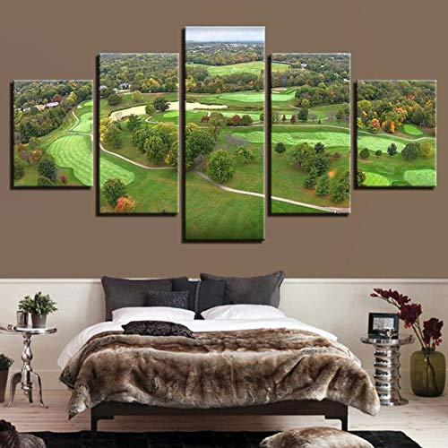 Wandschilderij met vijf muurstickers Dierenprint Afbeelding op canvas Vijf muurschilderingen, wanddecoratie, slaapkamer, landschap