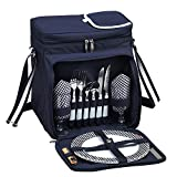 Picnic at Ascot Original Insulated Picnic Basket/Cooler Equipped with Service for 2- Designed, Assembled & Quality...