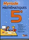 mathematiques 5eme- collection myriade