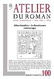L'Atelier du Roman N 100 - Milan Kundera
