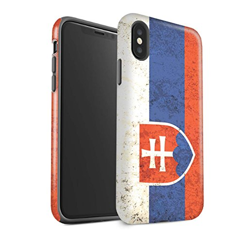 Stuff4® matte harde schokbestendige hoes/case voor Apple iPhone X / 10 / Slowaakse/Sloveense patroon/vlag collectie
