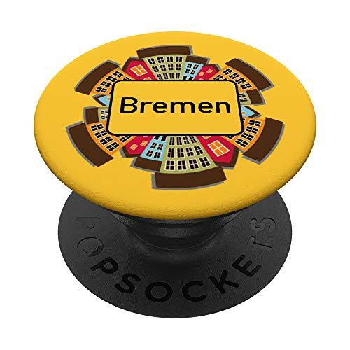 """Ortsschild \""""Bremen\"""" - Stadt-Design - PopSockets Ausziehbarer Sockel und Griff für Smartphones und Tablets"""