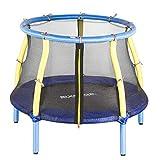 SixBros. SixJump Kindertrampolin für den Garten und Indoor, Gartentrampolin 1,22m inkl....