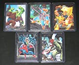 1992 Marvel Masterpieces Series I DYNA-Etch Insert Set of 5 Cards NM/M Joe Jusko Art, Spider-Man