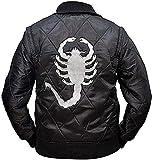 BFS Apparels Scorpion Men's Logo Drive Bomber Satin Jacket