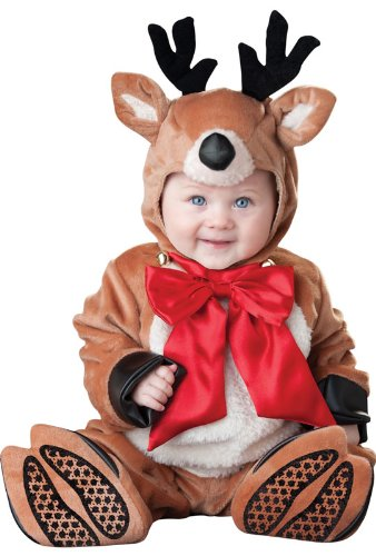 InCharacter Reindeer Rascal Infant/Toddler Costume, Small (6-12) Brown