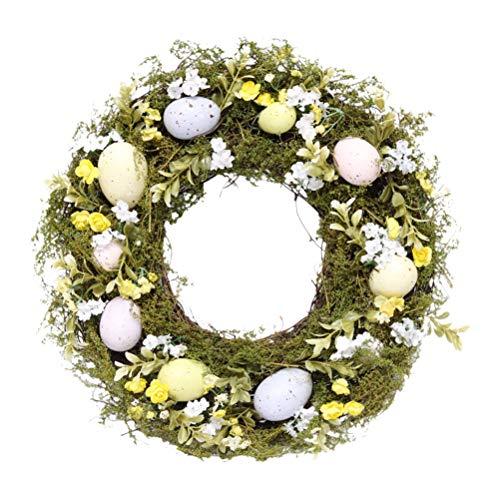 Guirnalda de huevos de Pascua artificiales para decoración de pared de puerta delantera