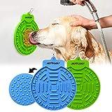 2 pcs Dog Lick Pad, Bath & Grooming Alimentadores lentos, Dog Lick Plate...