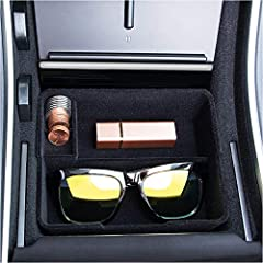 [OEM Part]: Made of flocked material and durable ABS plastic. It just like an OEM part and matches the interior perfectly. You can put some items that are often used in it, such as J-1772 adapter sunglasses and parking cards. [Installation Position]:...